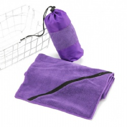 Microfiber sports towels Fitness towel with key pocket